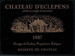 Etiquette De Vin // Château D'Eclépens - Castles
