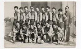 équipe De Rugby - Carte Photo     - Non Des Joueurs Au Dos De La Carte - Rugby