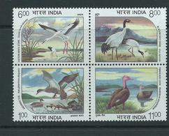 India Scarce Set Endangered Water Birds . Rare As Withdrawn Soon After Issue Sg1603 /1606 Mnh - India