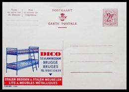 BELGIQUE ENTIER CP PUBLIBEL N° 1766. DICO . BRUGES . STALEN BEDDEN & STALEN MEUBELEN   . NEUF - Stamped Stationery