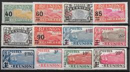 REUNION : SERIES SURCHARGEES N° 97/108 NEUVES * GOMME AVEC CHARNIERE - TRES FRAIS - Reunion Island (1852-1975)