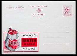 BELGIQUE ENTIER CP PUBLIBEL N° 1674. MOUTARDE BISTER DIJON . MOSTERD  . NEUF - Stamped Stationery