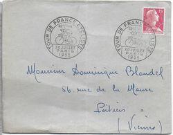 SPORT CYCLISME CACHET POSTAL ETAPE TOUR DE FRANCE 30 JUILLET 1955 VILLE PARIS - Ciclismo