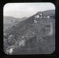 Generaliffe From Alhambra Granada SPAIN - Magic Lantern Slide (lanterne Magique) - Glasdias