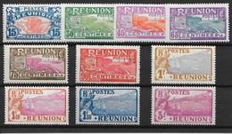 REUNION : SERIE CARTE DE L'ILE COMPLETE N° 109/118 NEUVE * GOMME AVEC CHARNIERE - TRES FRAIS - Reunion Island (1852-1975)