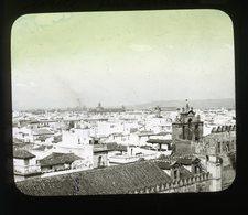 Seville From The Giralda SPAIN - Magic Lantern Slide (lanterne Magique) - Glasdias