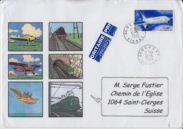Lettre  Avec Timbre Aviation N° 63, De 15,00 F 10.5.2000 Destination La Suisse - Francia