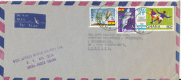 Ghana Air Mail Cover Sent To Denmark Topic Stamps - Ghana (1957-...)