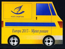 "ALBANIA/Albanien EUROPA 2013 ""The Postman Van"" Booklet With Minisheet** - 2013"
