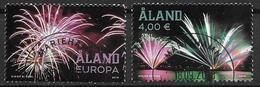 Aland 2018 N° 460/461 Oblitérés Feux D'artifice - Aland