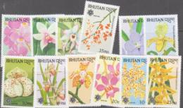 BHUTAN - 1990 - ORCHIDS EXPOSITION SET OF 12 MINT NEVER HINGED SG £25+ - Bhutan