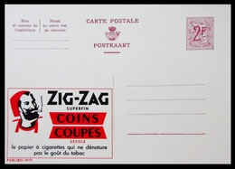 BELGIQUE ENTIER CP PUBLIBEL N° 1979. ZIG-ZAG . PAPIER A CIGARETTES  . NEUF - Stamped Stationery