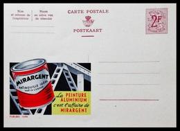 BELGIQUE ENTIER CP PUBLIBEL N° 1696. MIRARGENT . PEINTURE ALUMINIUM. NEUF - Stamped Stationery