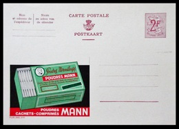 BELGIQUE ENTIER CP PUBLIBEL N° 2111 . POUDRES MANN . NEUF - Stamped Stationery