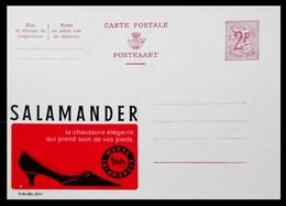 BELGIQUE ENTIER CP PUBLIBEL N° 2057 . SALAMANDER . CHAUSSURES . NEUF - Stamped Stationery