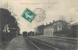 CPA 31 Haute Garonne Villefranche De Lauragais La Gare Vue De La Voie Ferrée Train - France