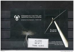 Aland. Bloc Feuillet. Eolienne - Aland