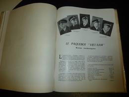 """LIVRE DE PRESENTATION DU PAQUEBOT DES MESSAGERIES MARTIMES Le """" VIET-NAM """" 1953 EQUIPAGE...BATEAU COMPAGNIE MARITIME (U) - Schiffe"""