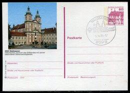"""Bundesrepublik Deutschland / 1984 / Bildpostkarte """"WALDSASSEN"""" Mit Bildgleichem Stempel (20340) - [7] Federal Republic"""