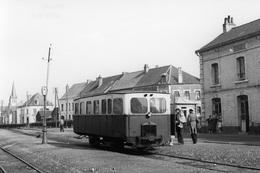 Fruges. Ligne CGL Aire - Berck-Plage. Cliché Jacques Bazin. 25-05-1953 - Trains