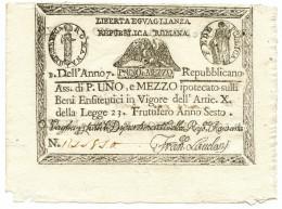 1,5 PAOLI STATO PONTIFICIO REPUBBLICA ROMANA DAL 09/08/1798 QFDS - Italia