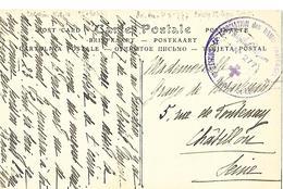 94-cachet De L'Hopital Aux; N°277 De Boissy-Saint-Léger Sur CP (cachet Rare) - Marcophilie (Lettres)