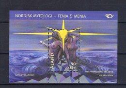 Aland; Bloc Feuillet. Norden. La Mythologie Nordique. Les Deux Géantes - Aland
