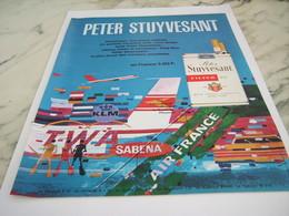 ANCIENNE PUBLICITE CIGARETTES PETER STUYVESANT 1968 - Raucherutensilien (ausser Tabak)