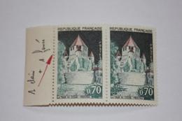 """"""" La Tour De César, Provins """" ( 1964 ) - Variété : 1 Clair + 1 Foncé - Variétés: 1960-69 Neufs"""