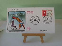 Jeux Olympiques D'Albertville (Ski Artistique)- 73 Tignes - 3.8.1991 FDC 1er Jour Coté 3€ - 1990-1999