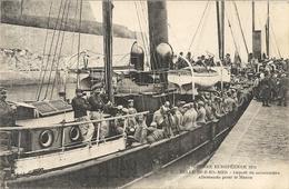 DEPART DES PRISONNIERS ALLEMANDS POUR LE MAROC . 14/18 - Belle Ile En Mer
