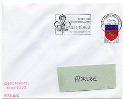 HERALDIQUE = 59 ARMENTIERES 1968 = FLAMME Codée = SECAP Illustrée D' ARMOIRIES 'fêtes Du Tricentenaire' - Marcofilia (sobres)