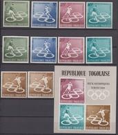 Togo  03.10.1964 Mi # 435-39 АВ Bl 15 Tokyo Summer Olympics, MNH OG, FULL SET - Sommer 1964: Tokio