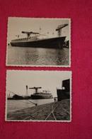 Paquebot FRANCE, En Construction, 1961 à Saint Nazaire ( 2 Photos Originales Au Format 10 X 8 Cm ) - Boats