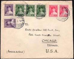 Romania - Multifranked Cover, Mi. 356-358, Bucuresti 11.2.1930 - Chicago, USA. - 1918-1948 Ferdinand, Carol II. & Mihai I.