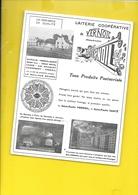 Buvard Rare Laiterie Coopérative De VERNOIL (49) - Agriculture