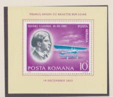 Romania 1978 Pioneers - Henri Coanda Souvenir Sheet MNH/** (H57) - Avions