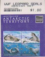 AAT 2001 Leopard Seals 4v (in Bl)  As From The Philatelic Service (unopened) ** Mnh (43898) Promotin - Australisch Antarctisch Territorium (AAT)