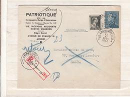 Belgique     Envlp   Poortman   N  430  1940 - 1936-1951 Poortman