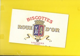 Buvard Biscottes ROUE D'OR Louviers (27) - Biscottes