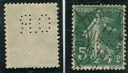Semeuse 137 Perforée OR 31 Indice 7 - France