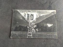 CARTE POSTALE CP SUISSE ECHELLE VIRGINALE JUNGFRAU LEITERLE 1918 VINTAGE BE - Unclassified