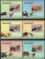 Mozambique 2007 Prehistory Prehistoire Dinosaurs Dinosaures  BF Luxe Perforé Gommé MNH - Prehistory