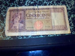 Italie Billet De Banque  De 500 Lires Banca Italia Annèe 1947 BE Ayant Circulé - [ 2] 1946-… : République