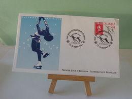 Jeux Olympiques D'Albertville (Patinage) 73 Albertville - 8.2.1990 FDC 1er Jour Coté 3€(Numismatique Française) - 1990-1999