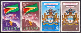 GUYANA 1966 SG 408-11 Compl.set Used Independence - Guyana (1966-...)