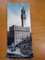 FIRENZE Piazza Della Signoria E Palazzo VECCHIO ANIMATA VIAGGIATA 1956 Formato MAX PANORAMICA - Firenze