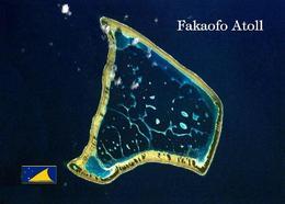 Tokelau Fakaofo Atoll Satellite View New Postcard - Nuova Zelanda