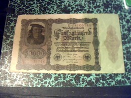 Allemagne Billet De Banque  De 50000 Mark   Reichsbanknote  Annèe 1922 BE/TB Ayant Circulé - 50000 Mark