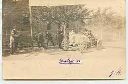 Carte-Photo - Jenatzy 2ème Coupe Gordon Bennett - Hambourg 1904 Sur Mercedes - Rallyes